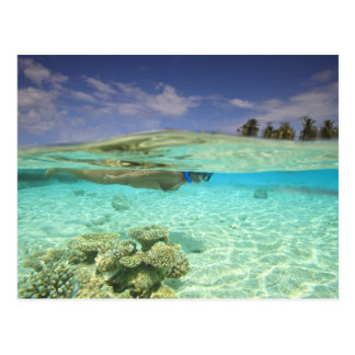 Atoll du sud de Huvadhoo, Maldives du sud, Carte Postale