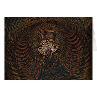 Atome psychédélique carte de vœux