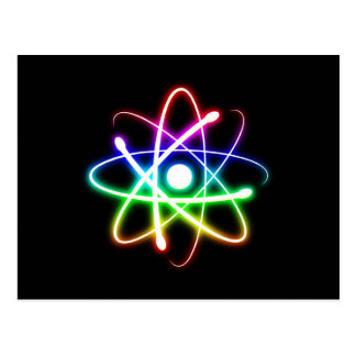 Atome rougeoyant coloré - carte postale de