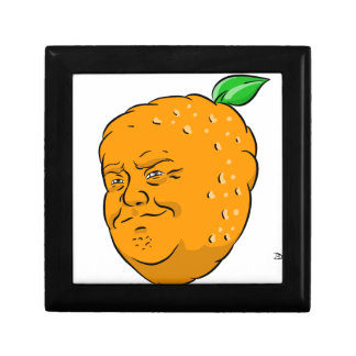 Atout de mandarine petite boîte à bijoux carrée
