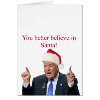 Atout : Vous croyez mieux au Père Noël ! Carte De Vœux