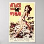 Attaque affiches de Woman de 50 pieds des 1958) (