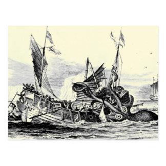 Attaque de Kraken ! Carte postale