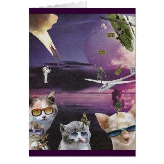 Attaque de la carte fraîche de chats