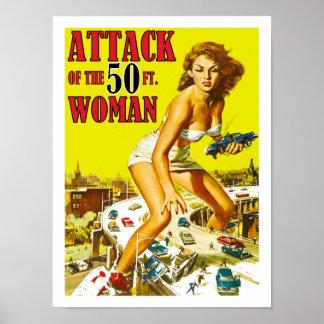 Attaque de la femme de 50 pieds poster