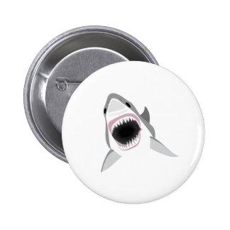 Attaque de requin - morsure du grand requin blanc pin's