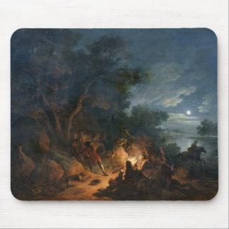 Attaque par des voleurs la nuit, c.1770 tapis de souris