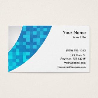 Attaque surprise bleue de contrôle cartes de visite