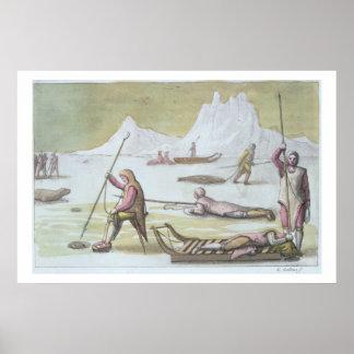 Attendant sur la glace, détail de la chasse aux ph posters