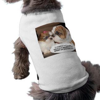 Attention anglaise de bouledogue ! t-shirt pour chien