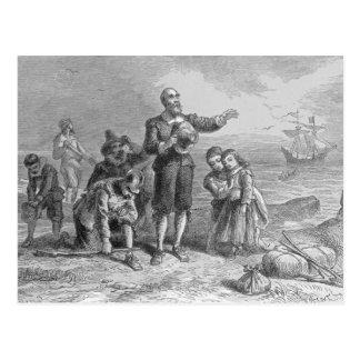 Atterrissage des pèlerins, 1620 carte postale