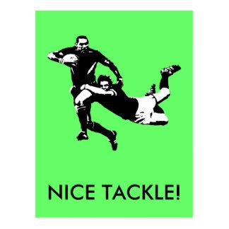 Attirail gentil, rugby carte postale