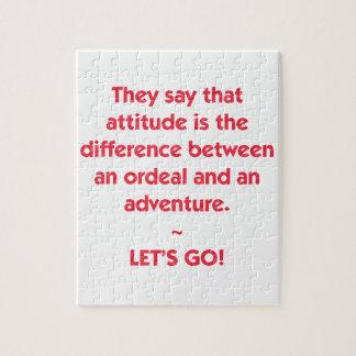 Attitude - différence entre l'épreuve et puzzle