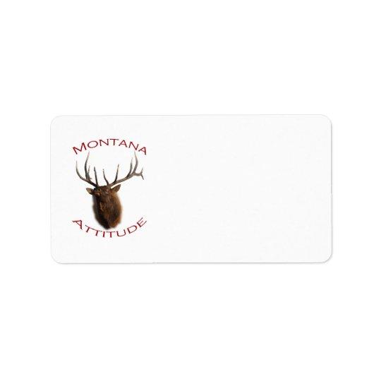 Attitude du Montana Étiquette D'adresse