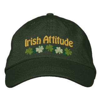 Attitude irlandaise et shamrocks casquette brodée