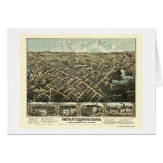 Attleboro du nord, carte panoramique de mA - 1878