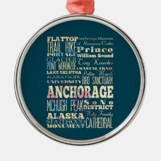 Attractions et endroits célèbres d'Anchorage, Ornement Rond Argenté