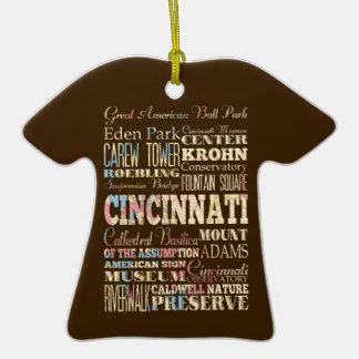 Attractions et endroits célèbres de Cincinnati, Ornement T-shirt En Céramique