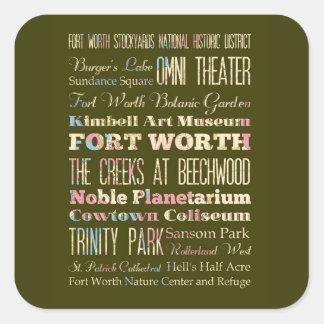 Attractions et endroits célèbres de Fort Worth le Adhésifs