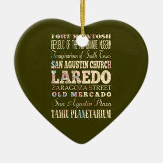 Attractions et endroits célèbres de Laredo, le Ornement Cœur En Céramique