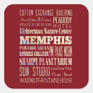 Attractions et endroits célèbres de Memphis, Sticker Carré