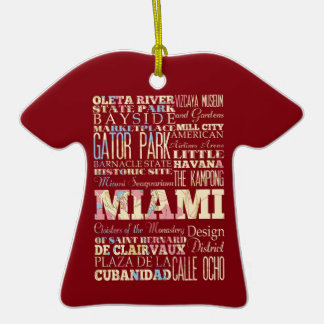 Attractions et endroits célèbres de Miami, la Ornement T-shirt En Céramique