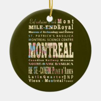 Attractions et endroits célèbres de Montréal, Ornement Rond En Céramique