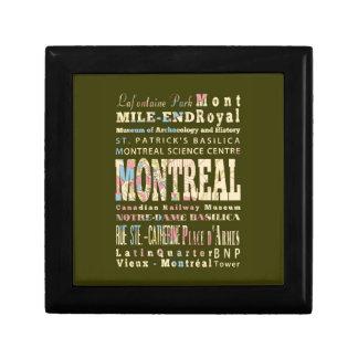 Attractions et endroits célèbres de Montréal, Québ Petite Boîte À Bijoux Carrée