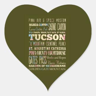 Attractions et endroits célèbres de Tucson, Autocollant En Cœur