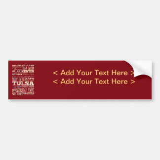 Attractions et endroits célèbres de Tulsa, l'Oklah Autocollant De Voiture