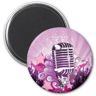 Attrait du microphone aimants pour réfrigérateur