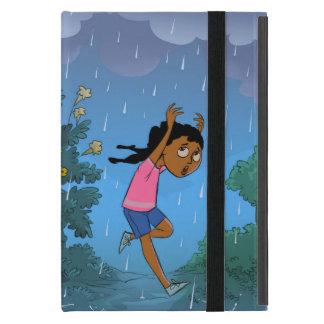 Attrapé dans le coque ipad de conception de pluie