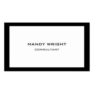 Attrayant blanc noir simple simple personnel carte de visite standard