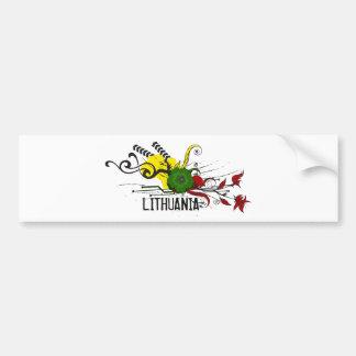 Attributs de Lithuanien Autocollant Pour Voiture