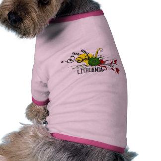 Attributs de Lithuanien T-shirts Pour Chien