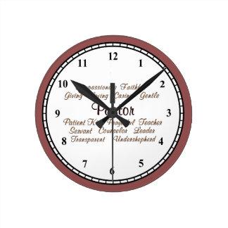 Attributs de pasteur horloge ronde