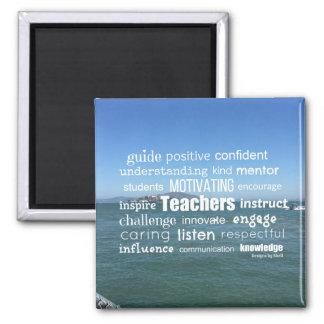 Attributs d'un grand professeur magnet carré