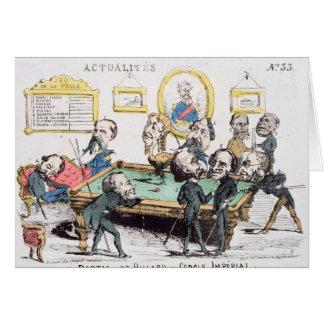 Au Cercle Imperial d'Une Partie de Billard Carte De Vœux