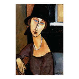 Au Chapeau de Jeanne Hébuterne de portrait Posters