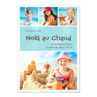 Au Chaud de Noël 4 vacances de carte de photo de