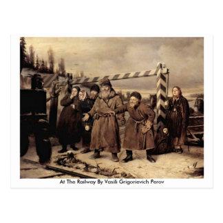 Au chemin de fer par Vasili Grigorievich Perov Carte Postale