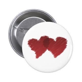 Au coeur d'amour badge avec épingle