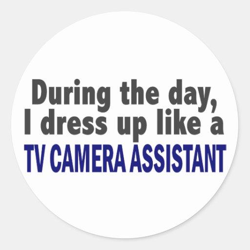 Au cours de la journée je m'habille comme autocollants ronds