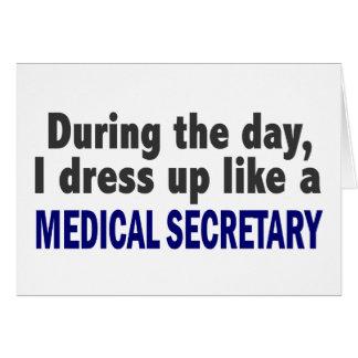 Au cours de la journée je m'habille comme un carte de vœux