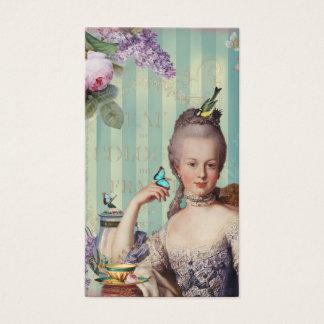 Au de Thé petit Trianon sur l'ivoire avec les Cartes De Visite