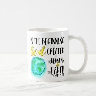 Au début tasse de café