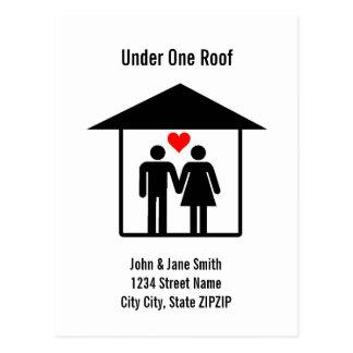 Au-dessous de un toit carte postale