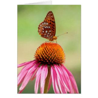 Au dessus - papillon de fritillaire carte de vœux