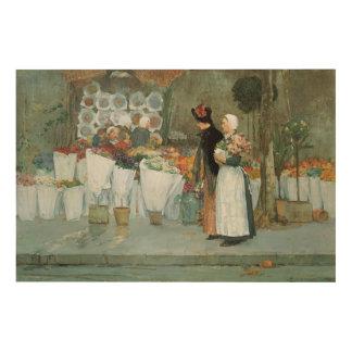Au fleuriste par art vintage d impressionisme de canevas en bois