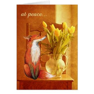 au Fox rustique de charme de pays de ~ de paix et Cartes